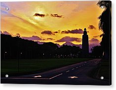 Sunset Hickam Air Force Base Freedom Tower Acrylic Print