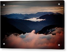 Sunset Himalayas Mountain Nepal Acrylic Print