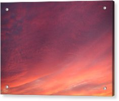 Acrylic Print featuring the photograph Sunset Hues by Laurie Stewart