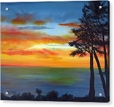 Sunset IIi Acrylic Print by Dottie Kinn