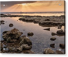 Sunset In Acre Acrylic Print by Sergey Simanovsky