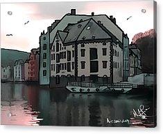 Sunset In Alesund Acrylic Print