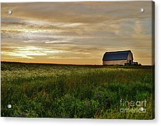 Sunset In Aroostook County Acrylic Print by Christopher Mace