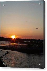 Sunset In Bayonne Acrylic Print by Anastasia Konn