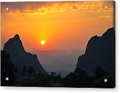 Sunset In Big Bend National Park Acrylic Print