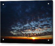 Sunset In Blue Acrylic Print