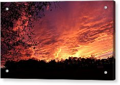 Sunset In Blue Ridge Foothills Acrylic Print