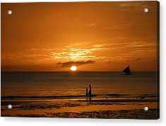 Sunset In Boracay Acrylic Print