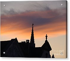 Sunset In Brussels Acrylic Print
