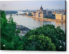 Sunset In Budapest Acrylic Print