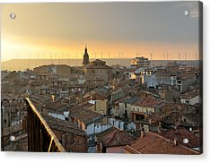 Sunset In Calahorra From The Bell Tower Of Saint Andrew Church Acrylic Print by RicardMN Photography