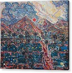 Sunset In California Acrylic Print by Anna Yurasovsky
