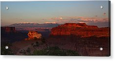 Sunset In Canyonlands National Park Acrylic Print