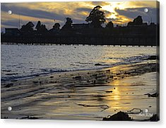 Acrylic Print featuring the photograph Sunset In Capitola by Alex King
