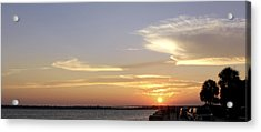 Sunset In Charleston Acrylic Print