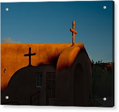 Sunset In Chimayo Nm Acrylic Print by Julie VanDore