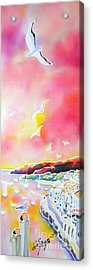 Sunset In Costa Brava Acrylic Print
