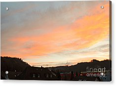 Acrylic Print featuring the photograph Sunset In December 1 by Felicia Tica