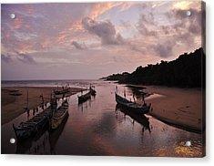 Sunset In Ghana Acrylic Print by Manu G