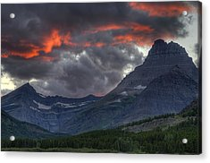 Sunset In Glacier Acrylic Print