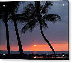 Sunset In Hawaii Acrylic Print