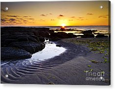 Acrylic Print featuring the photograph Sunset In Iceland by Gunnar Orn Arnason