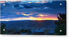 Sunset In Ithaca New York Panoramic Photography Acrylic Print