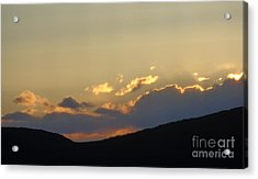 Acrylic Print featuring the photograph Sunset In June by Christina Verdgeline