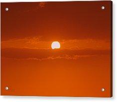 Sunset In Kona Acrylic Print by Athala Carole Bruckner