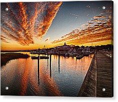 Sunset In Murells Inlet Acrylic Print