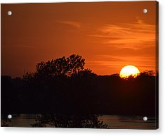 Sunset In Music City Acrylic Print by Joe Bledsoe