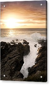 Sunset In Newquay Acrylic Print by Francesco Emanuele Carucci