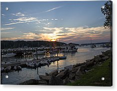 Sunset In Northport Acrylic Print