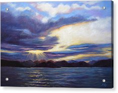 Sunset In Norway Acrylic Print by Janet King