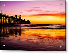 Sunset In Oceanside Acrylic Print
