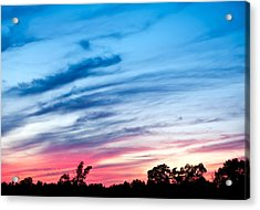 Acrylic Print featuring the photograph Sunset In Ontario Canada by Marek Poplawski