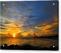 Sunset In Paradise - Beach Photography By Sharon Cummings Acrylic Print