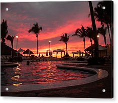 Acrylic Print featuring the photograph Sunset In Paradise by Shane Bechler