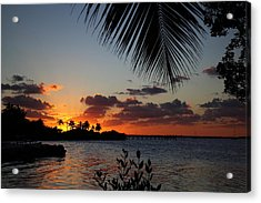 Sunset In Paradise Acrylic Print by Michelle Wiarda