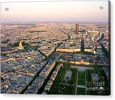 Acrylic Print featuring the photograph Sunset In Paris by Deborah Smolinske