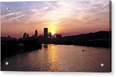 Sunset In Pittsburgh Acrylic Print