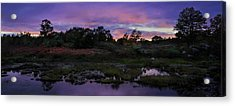 Sunset In Purple Along Highway 7 Acrylic Print by Peter v Quenter