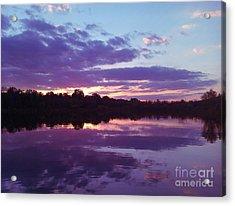 Sunset In Purple Acrylic Print by R McLellan