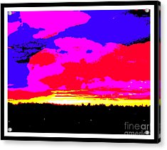 Sunset In Red Blue Yellow Pink Acrylic Print by Roberto Gagliardi