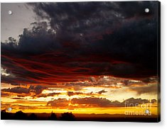 Sunset In Red Acrylic Print