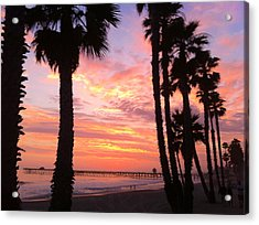 Sunset In San Clemente Acrylic Print