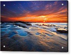 Sunset In San Diego Acrylic Print