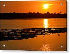 Sunset In Sanibel Acrylic Print