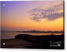 Sunset In Santa Cruz California  Acrylic Print by Garnett  Jaeger