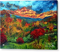 Sunset In Shenandoah Valley Acrylic Print